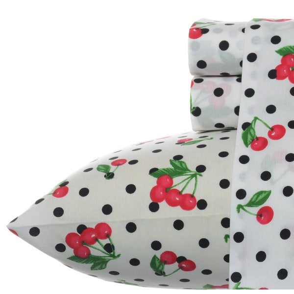 16001a33e39 Shop Betsey Johnson Cherry Red Sheet Set - Free Shipping On Orders Over  45  - Overstock - 10276807