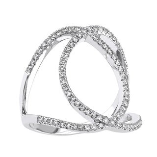 10k White Gold 1/ 2ct TDW Diamond Free-form Ring