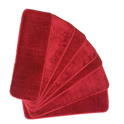 Ottomanson Softy Solid Color Non-slip Stair Treads