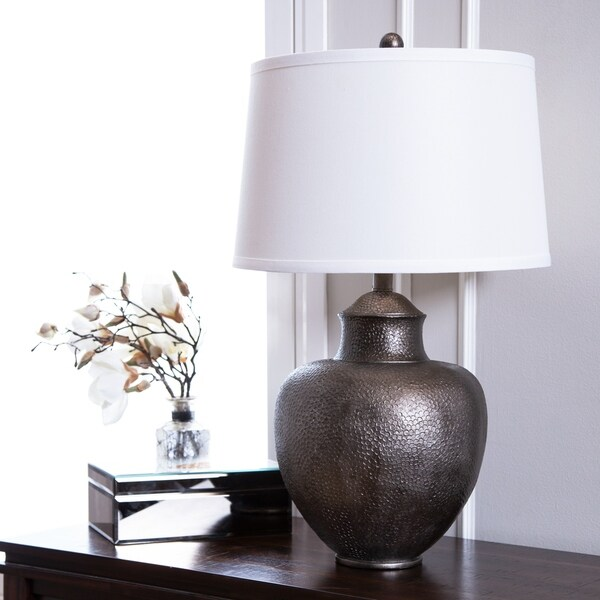Abbyson Claire Brown Hammer 24.5-inch Table Lamp