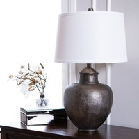 Shop maxim hammered pot bronze table lamp free shipping today abbyson claire brown hammer table lamp aloadofball Images