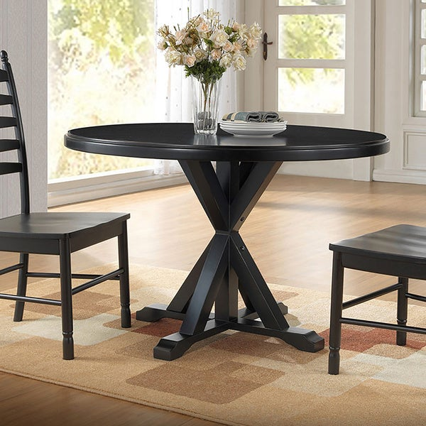 Porter Round Coffee Table: Porter X Base Dining Table