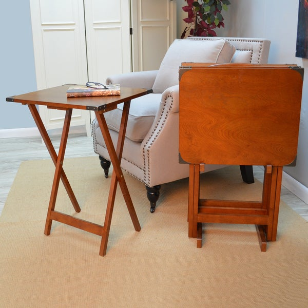 Coffee Table Tray Home Goods: Hawthorne 5-piece Folding Tray Table Set