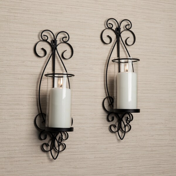 wall sconces with candles design interior danya b san remo metal wall sconce set shop free shipping on