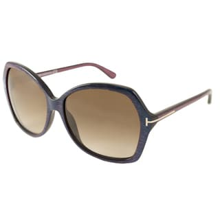 Tom Ford Womens TF0328 Carola Rectangular Sunglasses