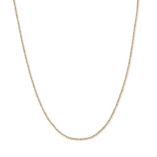 "PalmBeach Rope Chain in 14k Gold 18"" Tailored"