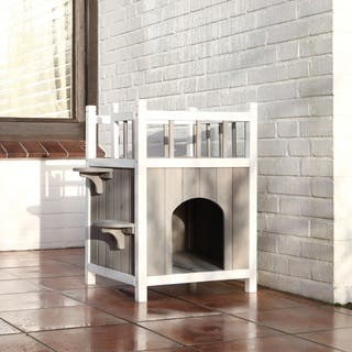TRIXIE Wooden Cat Home with Balcony|https://ak1.ostkcdn.com/images/products/10276898/P17392897.jpg?impolicy=medium