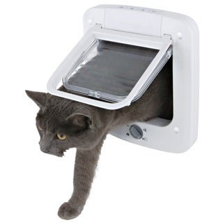 TRIXIE 4-way Cat Door with Rotary Lock - WHITE