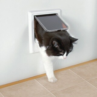 TRIXIE Electromagnetic 4-way Cat Door - WHITE