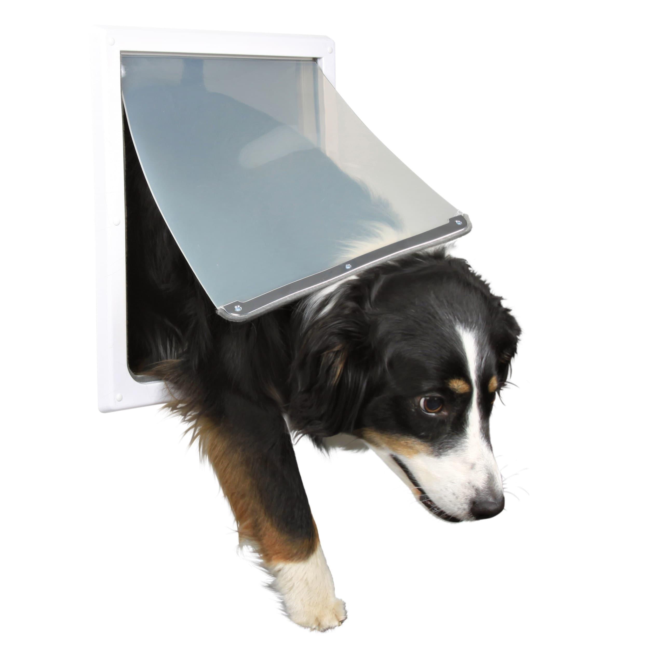 Trixie Medium/ Extra Large 2-way Dog Door, White