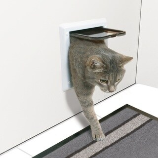 TRIXIE 2-way Cat Door - WHITE