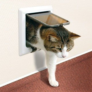 TRIXIE 4-way Cat Door with Tunnel