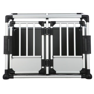 TRIXIE Double Door Scratch-resistant Small/ Medium Metallic Crate