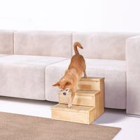 Trixie Wooden Pet Stairs - brown