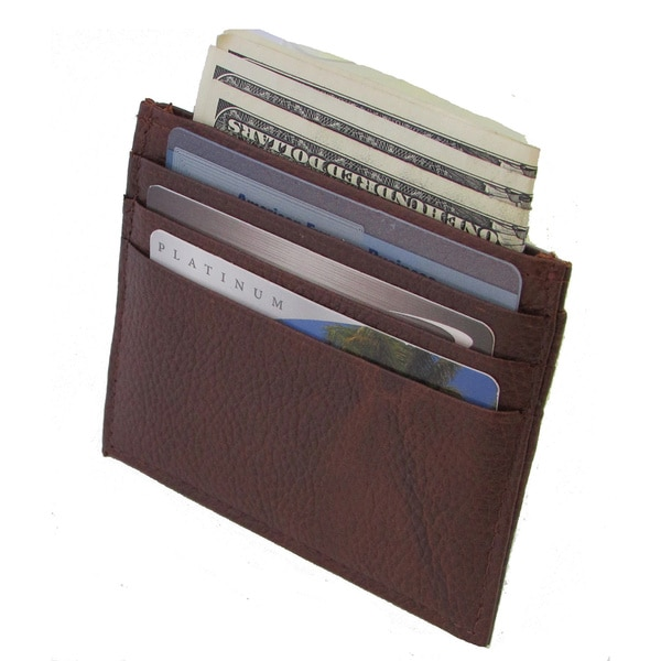 Continental Leather Slim/ Thin Front Pocket Card Holder Wallet