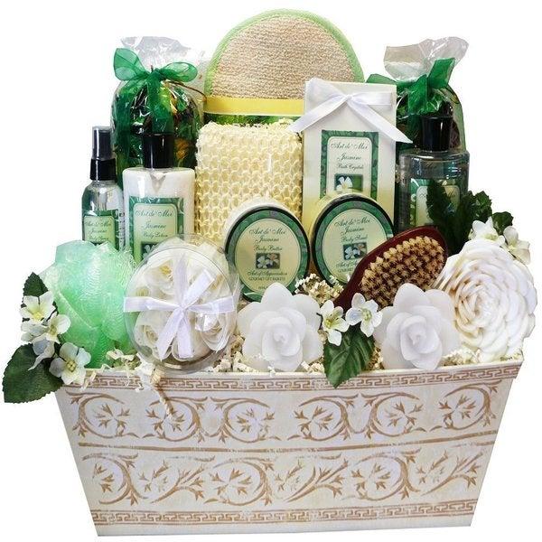 Jasmine Renewal Spa Bath and Body Large Gift Basket Set