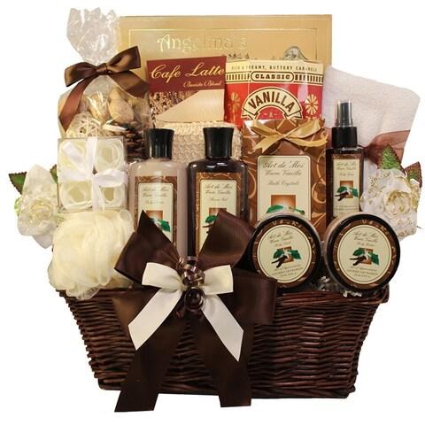 Essence of Luxury Warm Vanilla Spa Bath and Body Gift Basket Set