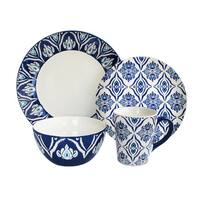 Accents by Jay Pirouette Blue and White Dinnerware 16-piece Set