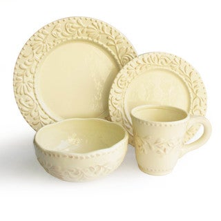American Atelier Accents by Jay Bianca Leaf Dinnerware 16-piece Set