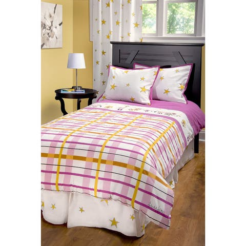 Rizzy Home Rachel Kate Girls Punk Animal Plaid 3-piece Comforter Set
