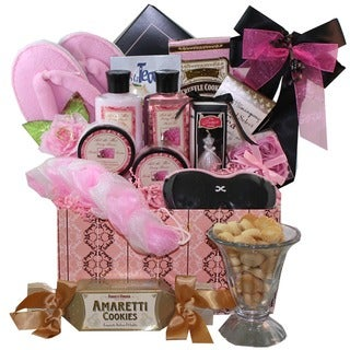 Dressed To Impress Floral Spa Bath and Body Gift Basket