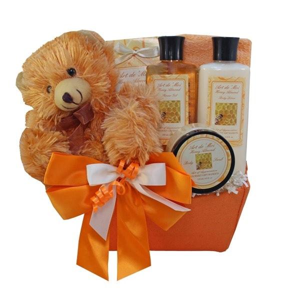 Honey Bear Spa Bath and Body Gift Basket Set
