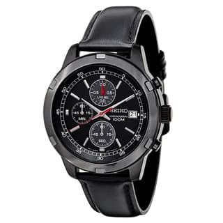 Seiko Men's SKS439 Black Leather Strap Chronograph Sport Watch|https://ak1.ostkcdn.com/images/products/10277003/P17392982.jpg?impolicy=medium