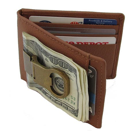 628fb98bd7b7c Continental Leather Bottle Opener Money Clip Front Pocket Wallet