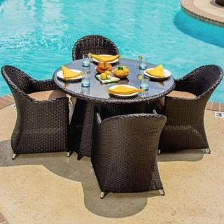 Providence 4-Person Resin Wicker Patio Dining Set