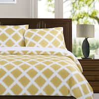 Echelon Home Diamond Ikat 3-piece Cotton Duvet Cover Set