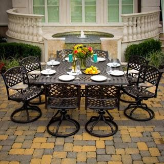Lakeview Outdoor Designs Heritage 8-Person Cast Aluminum Patio Dining Set