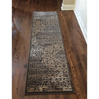 Admire Home Living Plaza Mia Brown Runner Rug (2'2 x 7'7) - 2'2 x 7'7