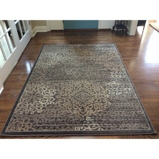 Admire Home Living Plaza Mia Brown Area Rug (5'3 x 7'3)