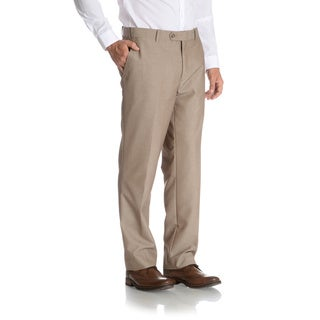 Adolfo Men's Suit Separate Slim Fit Tan Pants