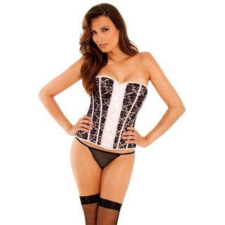 Rene Rofe Signature Desert Rose Corset Set in Pink