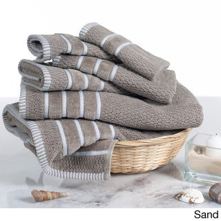 Windsor Home 100-Percent Cotton Rice Weave 6-Piece Towel Set