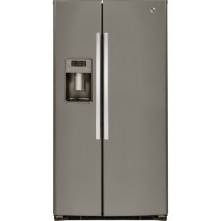 GE Energy Star 25.4 Cubic Feet Side-by-side Slate Refrigerator