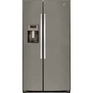 GE Energy Star 25.4 Cubic Feet Side-by-side Slate Refrigerator|https://ak1.ostkcdn.com/images/products/10277109/P17393069.jpg?impolicy=medium