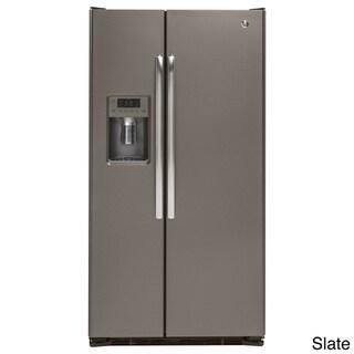 GE 21.9 Cubic Feet Counter-depth Side-by-side Refrigerator Grey
