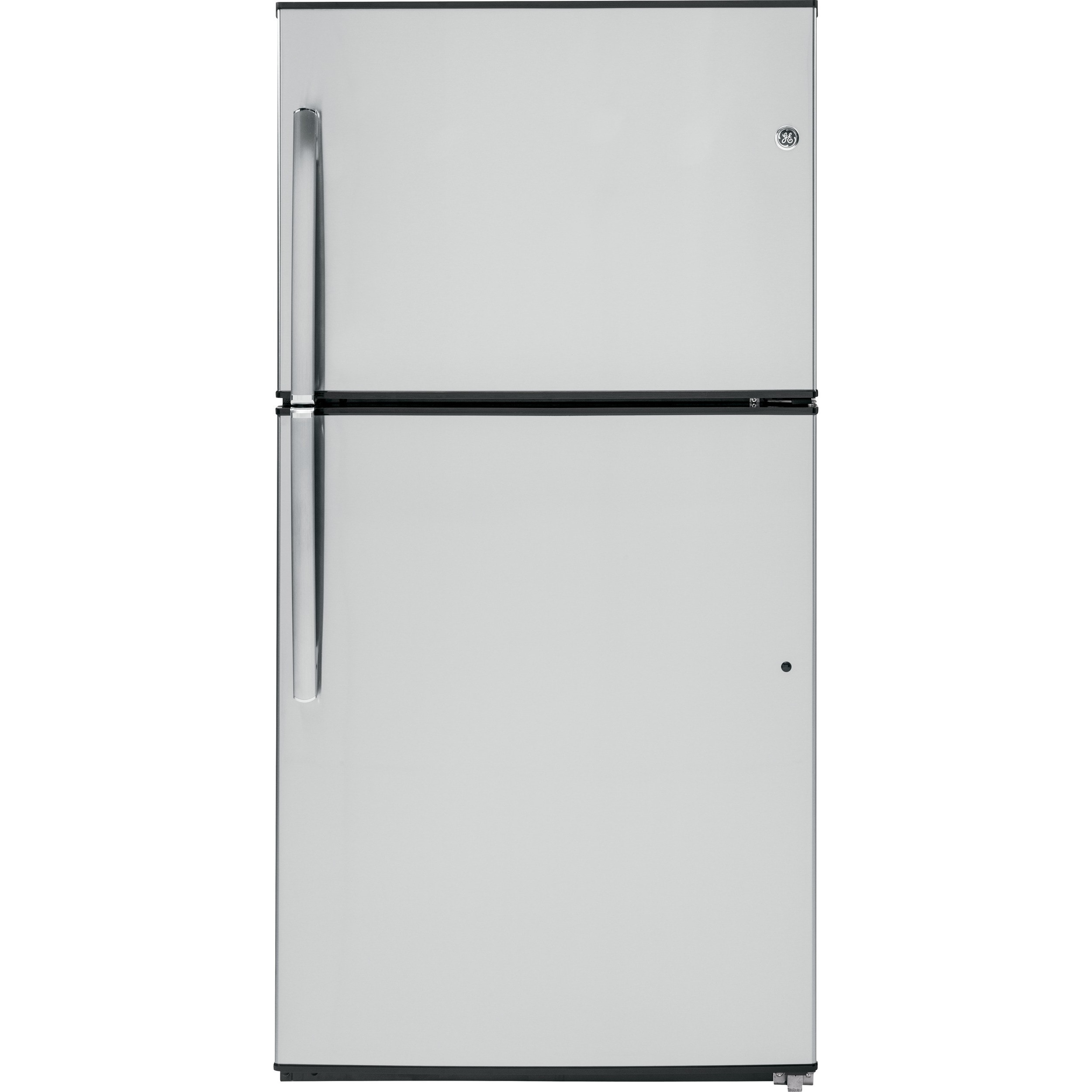 GE Energy Star 21.2 Cubic Feet Stainless Top-freezer Refr...
