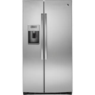 GE Profile Seres Energy Star 25.4 Cubic Feet Side-by-side Refrigerator Stainless Steel