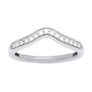 Boston Bay Diamonds 14k White Gold 1/6ct TDW Diamond Wedding Band (H-I, SI1-SI2)
