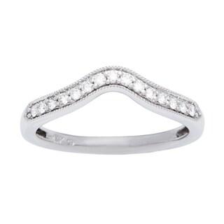 Boston Bay Diamonds 14k White Gold 1/6ct TDW Diamond Wedding Band