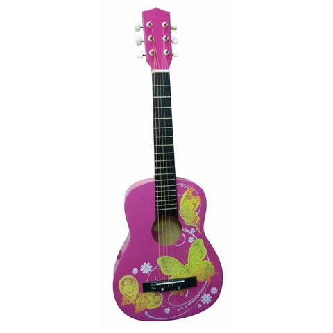 Ready Ace Pink Butterfly 30-inch Acoustic Guitar