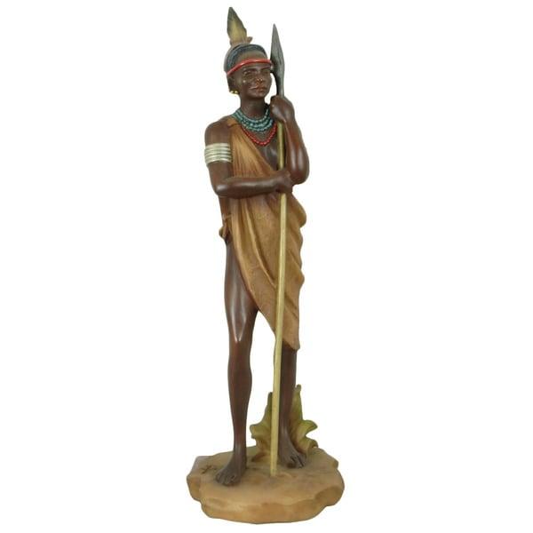 Handmade Mursi Warrior Decorative Figurine