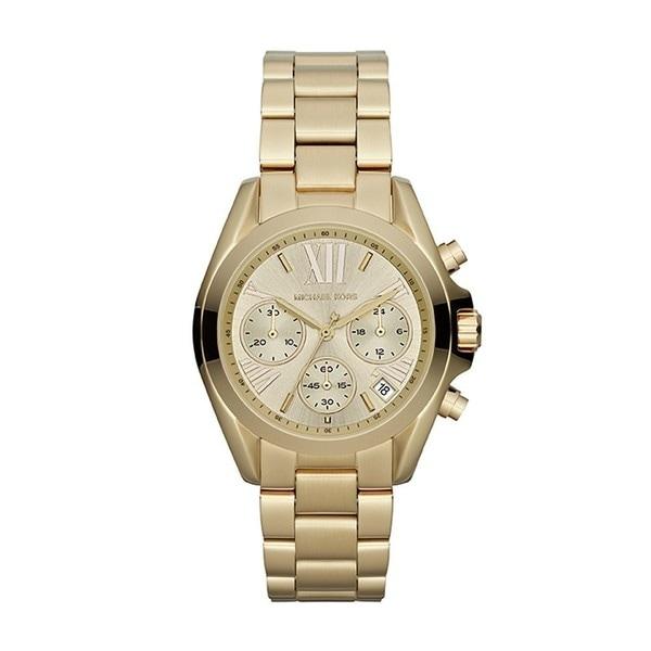 Michael Kors Women's Chronograph Mini Bradshaw Goldtone Bracelet Watch