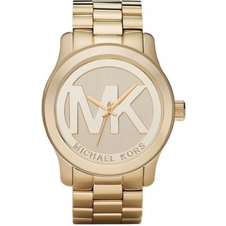 Michael Kors MK5473 Women's Runway Gold Plated Stainless Steel Bracelet Watch