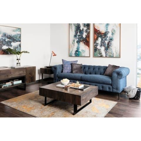 Aurelle Home Tinett Industrial Storage Coffee Table