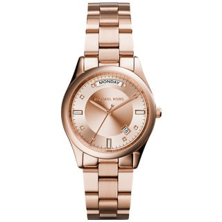 Michael Kors MK6071 Women's Colette Rose Gold-Tone Stainless Steel Bracelet Watch