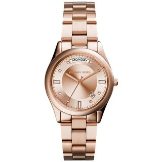 Michael Kors MK6071 Women's Colette Rose Gold-Tone Stainless Steel Bracelet Watch